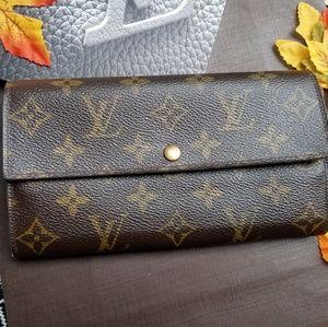 Louis Vuitton Sarah wallet Monogram Genuine